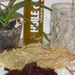 Darioles de fèves sur concassée de poivron